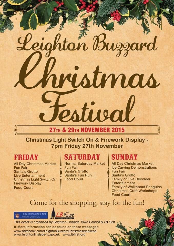 Come and see us at the Leighton Buzzard Christmas Fair