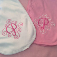 burp cloths with initial