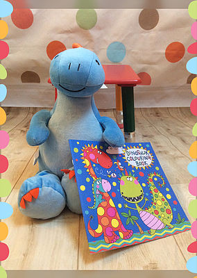 dinosaur gift set cubbie and book