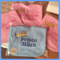 bibs for prince and princesses