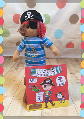 pirate ragdoll and colouring book