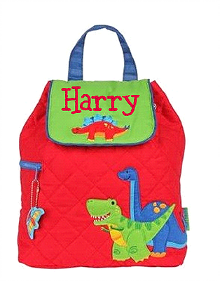 personalised backpack dinosaur design