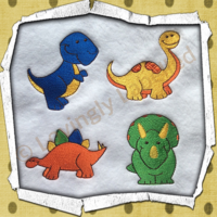 Personalised baby blanket, dinosaur designs