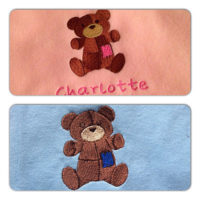 Personalised baby blankets, teddy design