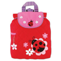 personalised ladybird nursery bag