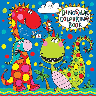 colouring book dinosaur design