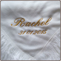 Personalised baby shawl