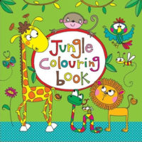 colouring book, jungle design
