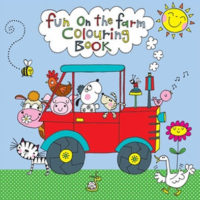 colouring book farm design