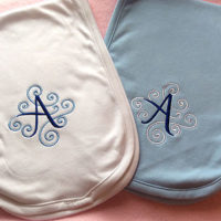 burp cloth with initial