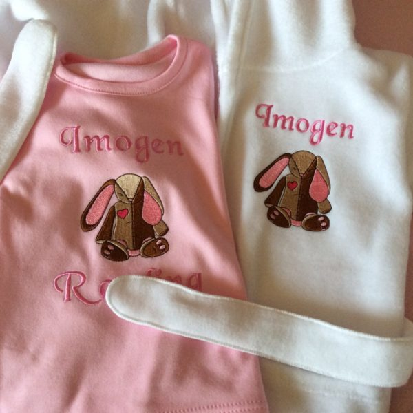 personalised baby pyjamas and dressing gown