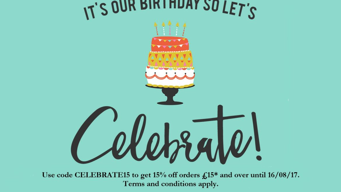 Birthday offer – get 15% off!