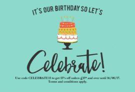 Birthday offer – get 15% off!